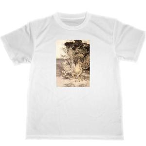 アーサー・ラッカム 不思議の国のアリス ドライ Tシャツ アリス イラスト 名画 グッズ