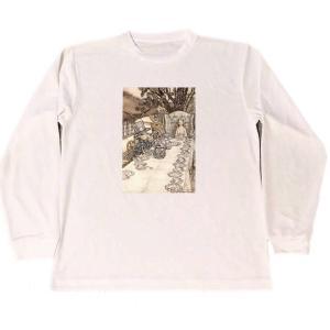 アーサー・ラッカム 不思議の国のアリス ドライ Tシャツ イラスト 名画 グッズ ロング Tシャツ ...