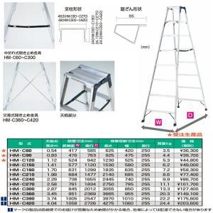 ☆☆☆ピカ 専用脚立 HM   HM-C420 14尺 最大4mまでの豊富なバリエーション |tugiteyasan|02