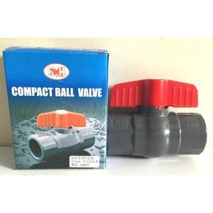 コンパクトボールバルブ ネジ式 3/4  (プラ プラスチック バルブ ボールバルブ) 在庫あり|tugiteyasan