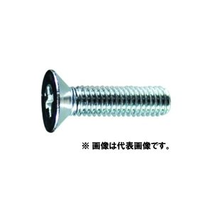 【メール便可】 皿頭小ねじ (鉄/ユニクローム)全ねじ M6×50 P1.0 (+)