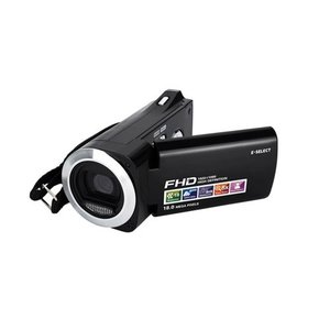 E-SELECT フルハイビジョン 乾電池式 デジタル ビデオカメラ ES-HDV5MBK|tuhan-station