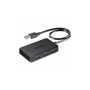 BUFFALO バッファロー BSH4U300U3BK USB3.0バスパワーハブ 4ポートタイプ マグネット付 ブラック|tuhan-station