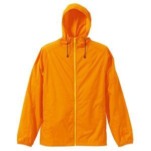 花粉対策フッ素撥水加工 マウンテンパーカー CB7025 オレンジ/イエロー Lサイズ|tuhan-station