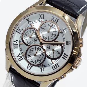 テクノス TECHNOS クオーツ メンズ クロノ 腕時計T4345PS シルバー シルバー|tuhan-station