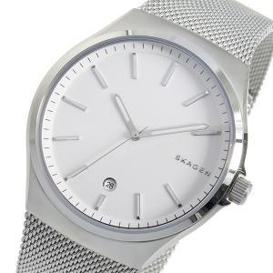 スカーゲン SKAGEN クオーツ メンズ 腕時計 SKW6262 ホワイト ホワイト|tuhan-station