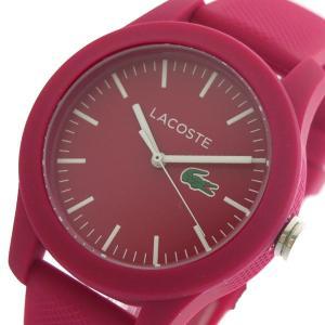ラコステ LACOSTE クオーツ レディース 腕時計 2000957 ワイン ピンク|tuhan-station
