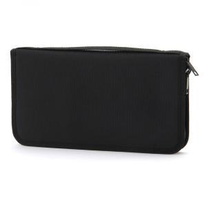 無印良品 ポリエステル パスポートケース・クリアポケット付 黒   外寸 約23.5×13×2.5c...