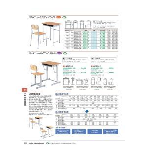 学校・研修用家具 普通教室用デスク NSAD-5M Sブラウン 品番 K01001S2 イナバ  稲葉|tukishimado