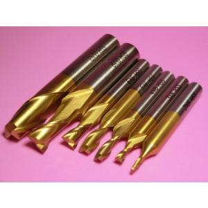 エンドミル 2枚刃 HSSハイス TINコーティング 7本セット 卓上フライス