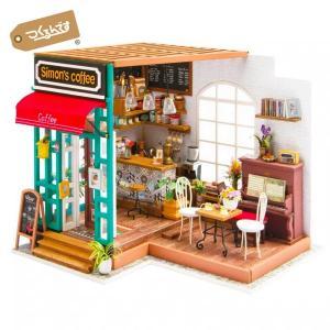 DG109 コーヒー|Robotime 日本公式販売/日本語説明書付 DIY ミニチュアハウス ドー...