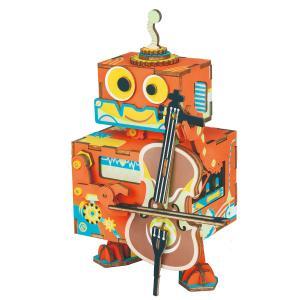 AMD53 ロボット Robotime 日本公式販売/日本語説明書付 3D ウッドパズル オルゴール tukurundesu