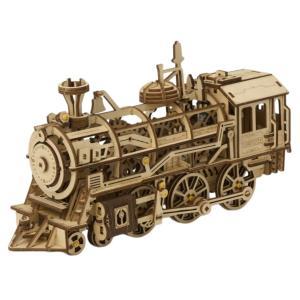 つくるんです LK701 機関車 Robotime 日本公式販売/日本語説明書付 3D ウッドパズル