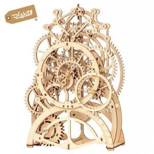 つくるんです LK501 振り子時計|ロボタイム 日本公式販売/日本語説明書付 3D ウッドパズル
