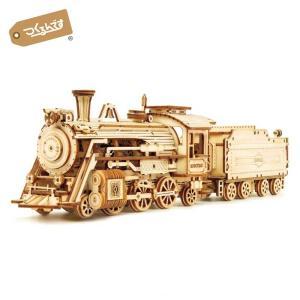 つくるんです MC501 貨物蒸気機関車 Robotime 日本公式販売/日本語説明書付 3D ウッ...