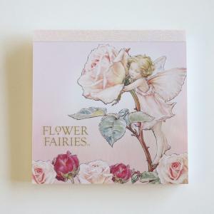 フラワーフェアリーズ メモパッド・スクエア<Rose_pink>FF-104|tuliphouse