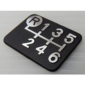 シフトパターンプレート ダイヤカット 左上リバース6MT車用 Tuningfan SPP-K601 6速マニュアル 日本製 ゆうパケット対応|tuningfan-com|02