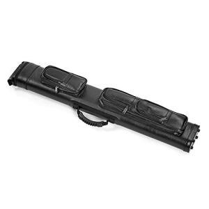 ビリヤードキューケース ブラック合皮 2バット×4シャフト 865×140×80mm 2×4 バット...