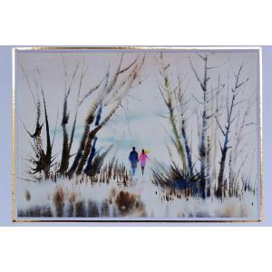 超 希少 絵画 アート 水彩画 家 REIKO の幻想 世界 原画 一点 限り 2号・3号 サイズ FRIEND STREET (h 3号|turaronkon