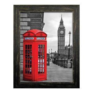 伸和(SHINWA) ポスター/風景 赤い電話ボックス サイズ/幅37.4×奥行き1.2×高さ47.4(cm) ITD-70109|turaronkon