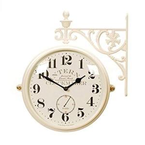 両面電波時計 両面時計 Interior Double Face Wall Clock おしゃれな インテリア 両面壁掛け時計 電波両面時計|turaronkon