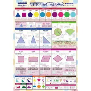 1枚で 平面図形 がわかるLearnEASY 図形 を学ぼう平面図形の種類と公式ポスター プチバイリ...