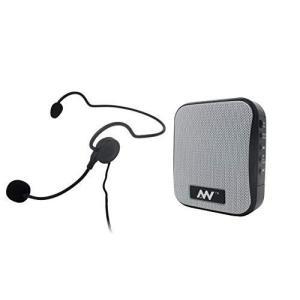 飛沫拡散防止対策にハンズフリー ポータブル拡声器 MP3フォーマットでUSBメモリ、Micro SD...