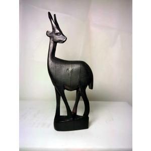 009スリムな鹿の木彫りの草木染め|turfan