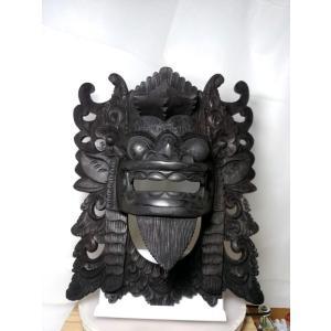 012バリ島聖獣バロンのマスクの草木染め|turfan