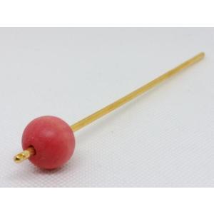 かんざし 064 草木染ウッドビーズ 桃色紅花 20mmx1 turfan