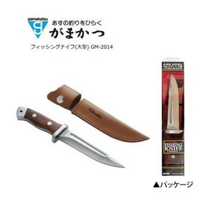 がまかつ フィッシングナイフ(大型)GM2014(フィッシング ナイフ つり 磯釣り用品 釣り具 アウトドア 大型ナイフ ケース付き レザーケース付き|turidaisuki