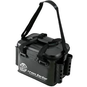 クロスファクター(CROSS FACTOR) EVA製 タックルバッグ ロッドスタンド付 ブラック AEK905-BK釣り道具入れ収納磯バッグ|turidaisuki