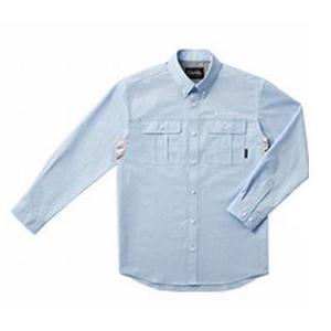 がまかつ ダンガリーシャツ GM-3454 ブルー  (釣り シャツ 長袖 磯釣 渓流釣り 吸水性 速乾性 ウェアアウトドア)|turidaisuki