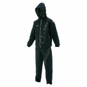 がまかつ ウィンドプルーフパーカースーツ ブラック GM-3464(フィッシング ウェア ウエア フィッシングウェア パンツ 磯釣り 海釣り 防寒着|turidaisuki