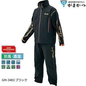 がまかつ(Gamakatsu) ゴアッテックス ウィンドストッパーRライトレインレジスタンス レインスーツ GM-3483 ブラック(フィッシング ウ|turidaisuki