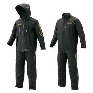 がまかつ 防寒防水 オールウェザースーツ GM-3485 ブラック(フィッシング レインウェア ウエア オールウェザー フィッシングウェア 磯釣り 防|turidaisuki