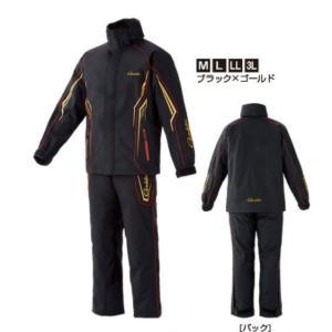送料無料 がまかつ オールウェザースーツ GM-3525 ブラック/ゴールド 71,000円(防寒防水、防水透湿、ミドラー付き、G-SPEC、4シーズ|turidaisuki