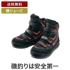 がまかつ フェルトスパイクシューズ(パワーT) GM4514 ブラックレッド(スパイクシューズ シューズ 靴 磯シューズ 磯靴 フィッシングスパイク turidaisuki