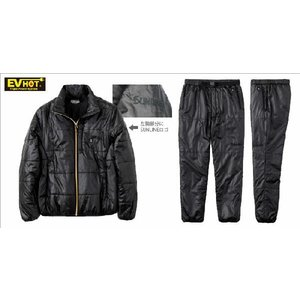 サンラインEV HOT ヒータースーツ SCW-6120 ブラック S・M・L・LL(フィッシング ウェア ウエア 磯釣り パンツ ジャケット 防寒着|turidaisuki