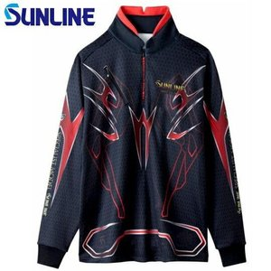 サンライン ステータス・PROジップアップシャツ STW-5558HT 3Lと4L(フィッシング ウエア フィッシングウェア サンライン 磯釣り フリ|turidaisuki