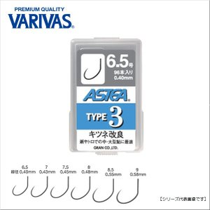 バリバス(VARIVAS) アステア タイプ3 7.0号 【メール便配送可】|turiguno-fishers