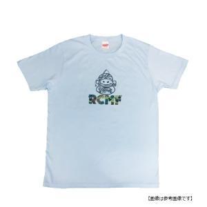 ハイドアップ(HIDEUP) RCMF(ラーメンカレーミュージックフィッシング) Tシャツ 特約店限定 ライトブルー S|turiguno-fishers