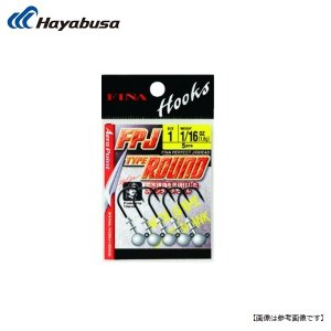 ハヤブサ パーフェクトジグヘッド タイプラウンド #1/0-3/32oz メール便配送可|turiguno-fishers