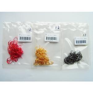 商品説明  ムツ針 13号 ネムリ 100本です。  カラー 赤、金、NSB  国産品ですが、既存の...
