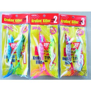 マルシン漁具 3号 ラトル内臓タコエギ クラーケンキラー 3号
