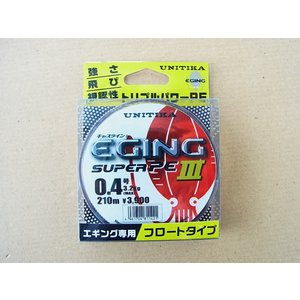 商品説明 ユニチカ キャスライン エギングスーパーPE3 0.4号-210m です。  ●素材:スー...