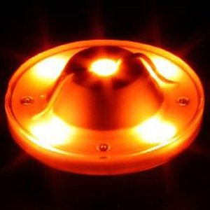 驚異の明かるさ!!1ワットLEDを5個搭載☆【LED5ハイパワーバスマーカーランプ専用ユニット紅茶色DC24V】 turn-wadayama