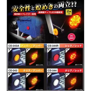 流星レフランプ丸DC24V(レッド/レッド) turn-wadayama