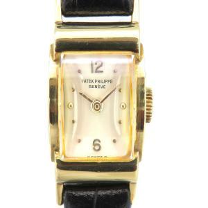 パテックフィリップ レクタングル アンティーク レディース アーカイブ付 1950年代製造 OH済み K18YG 角型キャリバー オールドパテック 【時計】|turuya783