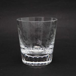 バカラ パルメ ロックグラス 1516238 オールドファッション 鳥 エッチング クリスタルガラス...